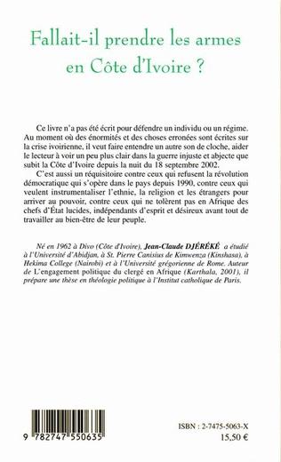 4eme Fallait-il prendre les armes en Côte d'ivoire ?