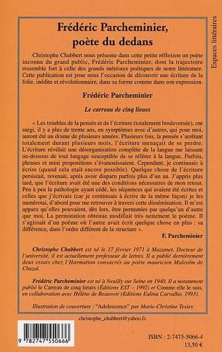 4eme Frédéric Parcheminier, poète du dedans