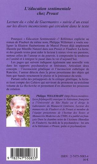 4eme L'éducation sentimentale chez Proust