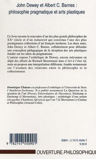 4eme John Dewey et Albert C. Barnes : philosophie pragmatique et arts plastiques