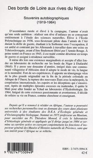 4eme Des bords de Loire aux rives du Niger