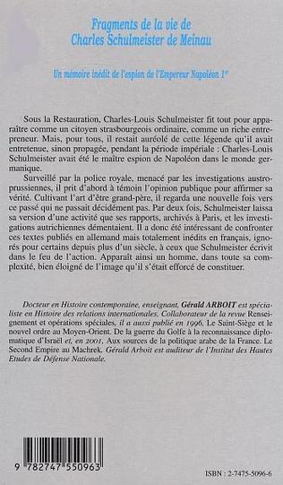 4eme Fragments de la vie de Charles Schulmeister de Meinau
