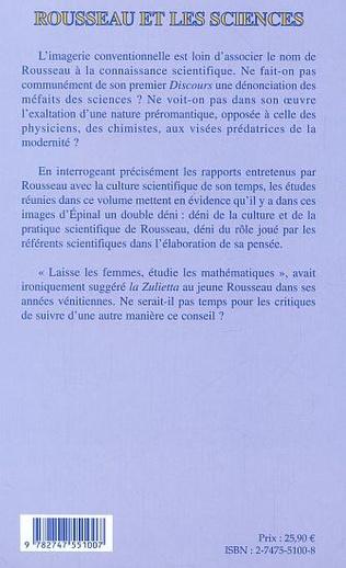 4eme Rousseau et les sciences