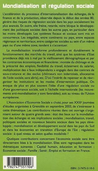 4eme Mondialisation et régulation sociale