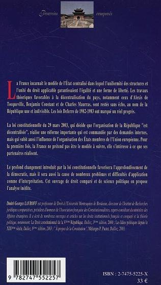 4eme La République décentralisée