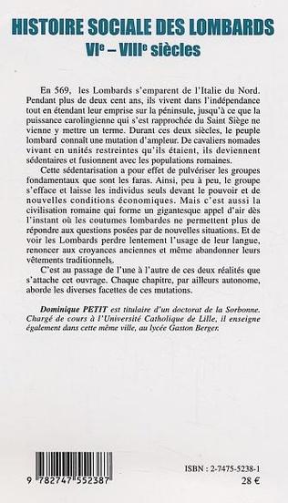 4eme Histoire sociale des lombards VI - VIII siècle