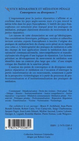 4eme Justice réparatrice et médiation pénale