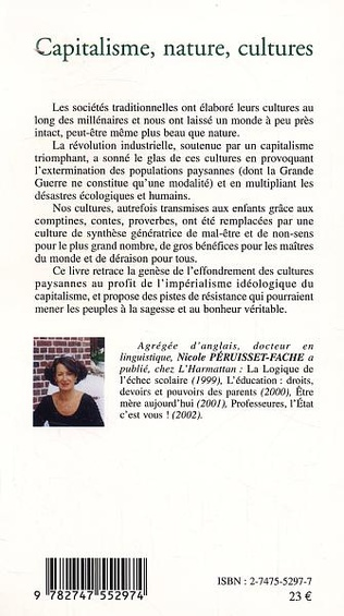 4eme Capitalisme, nature, cultures