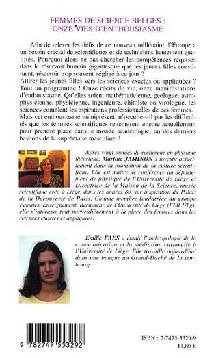 4eme Femmes de science belges