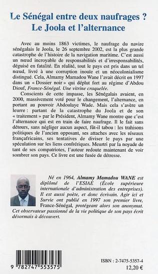 4eme Le Sénégal entre deux naufrages ?