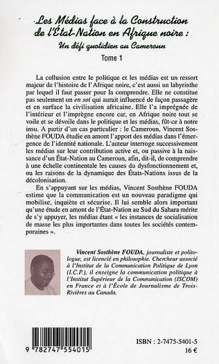 4eme Les Médias face à la Construction de l'Etat-Nation en Afrique Noire : un défi quotidien au Cameroun