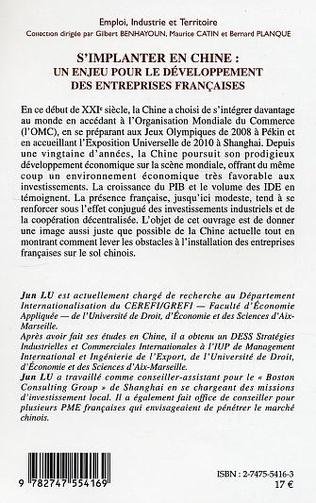 4eme S'implanter en chine : un enjeu pour le développement des entreprises françaises