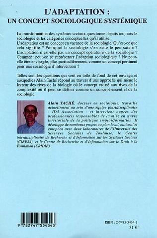 4eme L'adaptation: un concept sociologique systémique