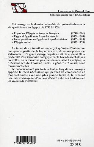 4eme Egypte et Egyptiens au temps des vice-rois (1801-1863)