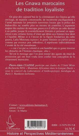4eme Les Gnawa marocains de tradition loyaliste