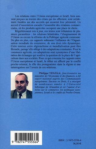 4eme Les relations entre l'Union européenne et Israël