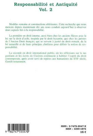 4eme Responsabilité et Antiquité Vol. 2