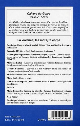 4eme Violence, les mots, le corps
