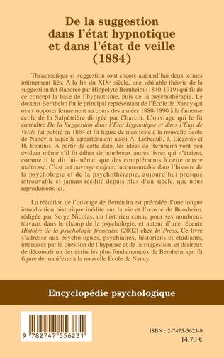 4eme De la suggestion dans l'état hypnotique et dans l'état de vieille (1884)