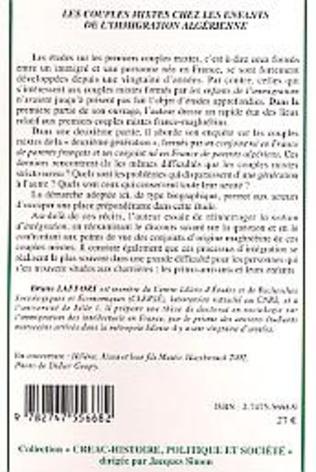 4eme Les couples mixtes chez les enfants de l'immigration algérienne