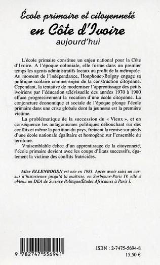 4eme Ecole primaire et citoyenneté en Côte d'ivoire aujourd'hui