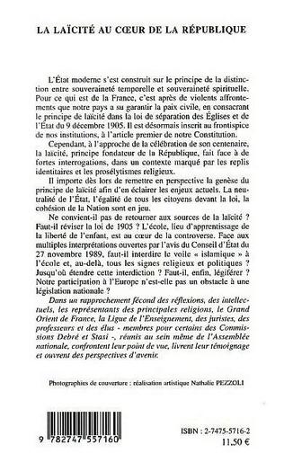 4eme La Laïcité au cœur de la République