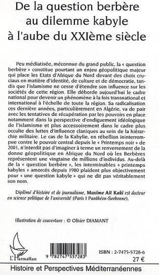 4eme DE LA QUESTION BERBERE AU DILEMME KABYLE A L'AUBE DU XXIE SIECLE