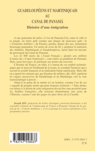 4eme Guadeloupéens et Martiniquais au canal de Panama