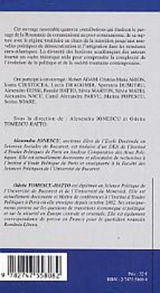 4eme Politique et société dans la Roumanie contemporaine