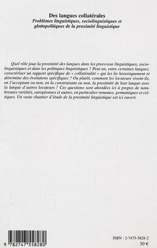 4eme Des langues collatérales