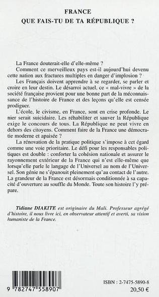 4eme France que fais-tu de ta République ?
