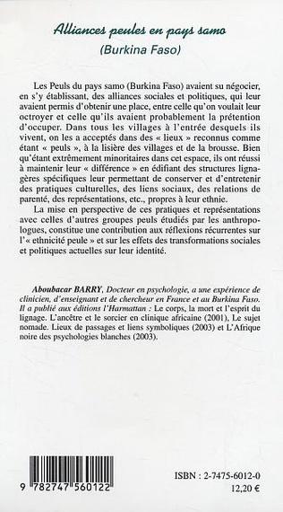 4eme Alliances peules en pays samo
