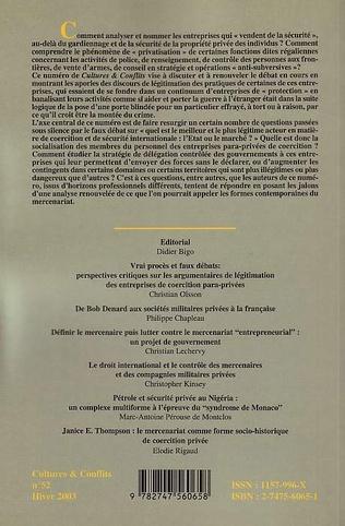 4eme Les entreprises para-privées de coercition, de nouveaux mercenaires ?