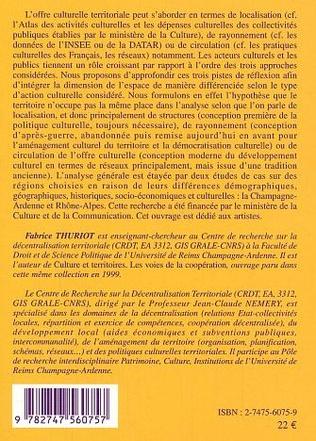 4eme L'offre artistique et patrimoniale en région