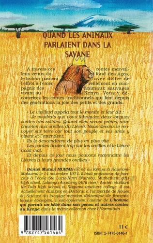 4eme Quand les animaux parlaient dans la savane