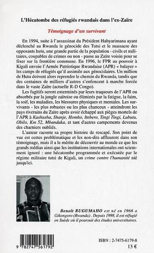 4eme L'Hécatombe des réfugiés rwandais dans l'ex-Zaïre