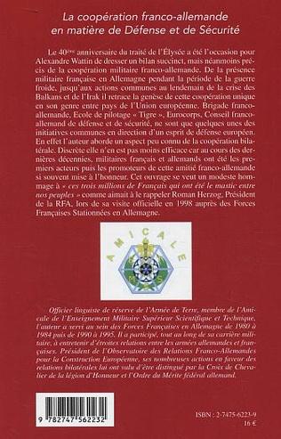 4eme La coopération franco-allemande en matière de Défense et de Sécurité