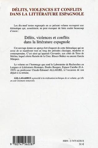 4eme Délits, violence et conflits dans la littérature espagnole