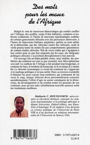 4eme Des mots pour les maux de l'Afrique