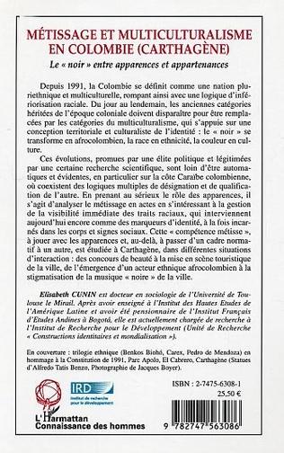 4eme Métissages et multiculturalisme en Colombie (Carthagène)