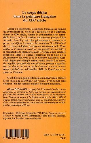 4eme Le corps déchu dans la peinture française du XIX  siècle