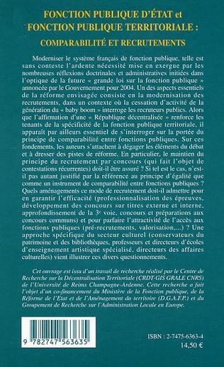 4eme Fonction publique d'Etat et fonction publique territoriale