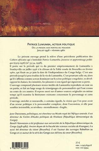 4eme Patrice Lumumba, acteur politique
