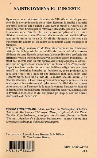4eme Sainte Dympna et l'inceste