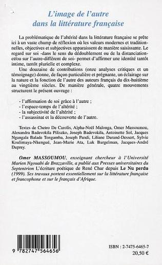 4eme L'image de l'autre dans la littérature française