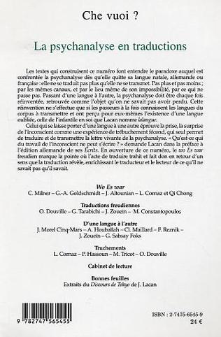 4eme La psychanalyse en traductions