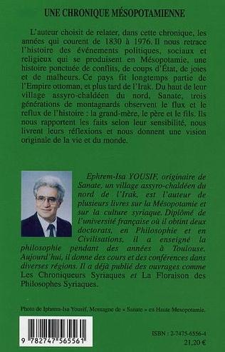 4eme Une chronique mésopotamienne (1830-1976)