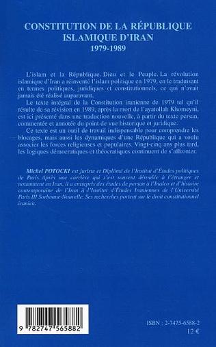 4eme Constitution de la République islamique d'Iran 1979-1989