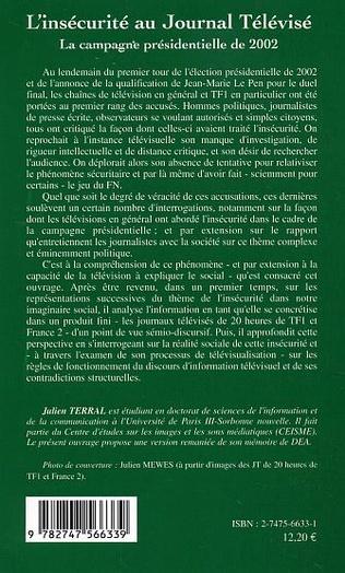 4eme L'insécurité au Journal Télévisé