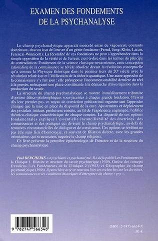 4eme Examen des fondements de la psychanalyse